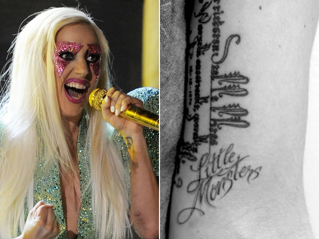 Lady Gaga's new Tattoo, look at each of Lady Gaga's tattoos and what they