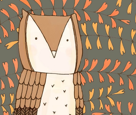 cute owl desktop wallp...