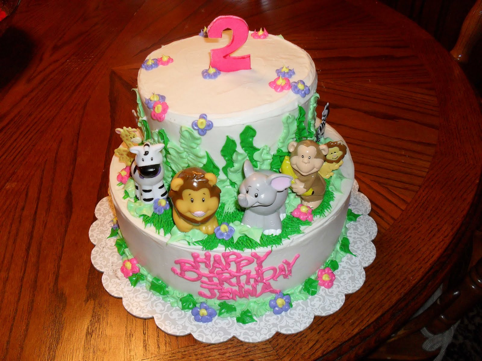 Jungle Theme Baby Shower Cakes for Girls