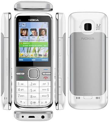 Spesifikasi dan Fitur Nokia C5 C-Series Mobile: