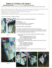 Simple Stroller Quilt Tutorial