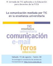 Afiche IV Jornada de TICs aplicadas a la educación para docentes de la FCEA