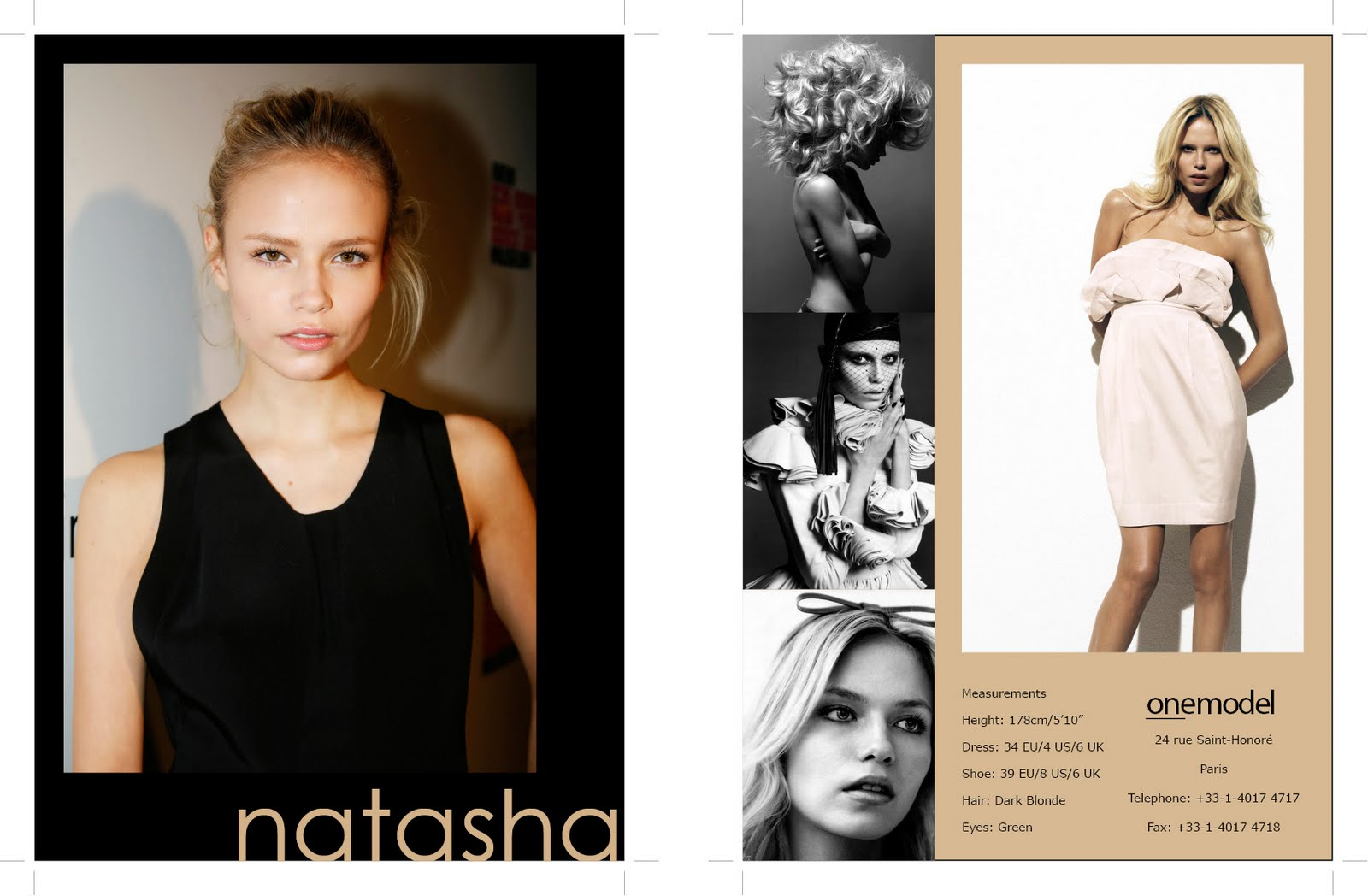 Style For Thought Model Comp Card Natasha Poly - Model comp card template