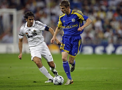 Raul Gonzalez during Real MAdrid Champions League Match