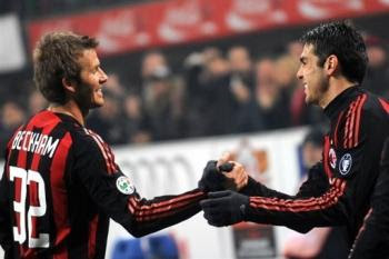 Ricardo Kaka and David Beckham