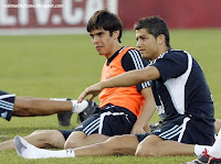 Kaka and Cristiano Ronaldo