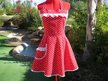 Red and White Sassy Apron!