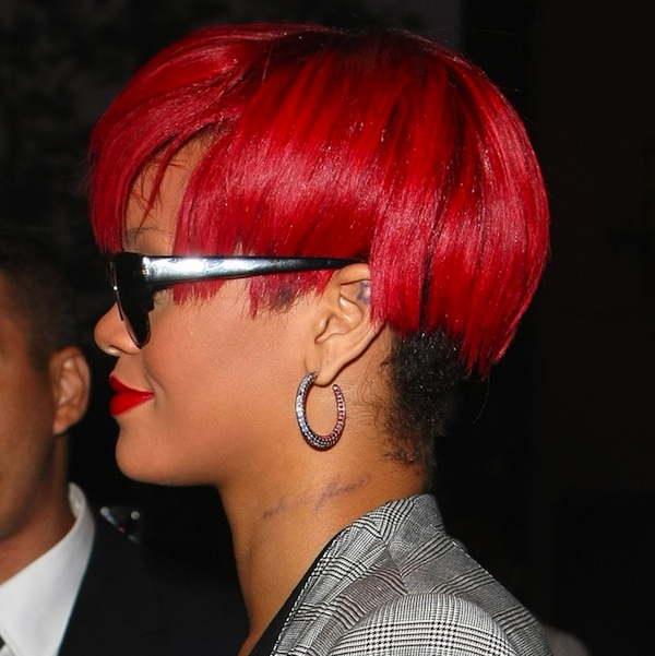 rihanna neck tattoo. New neck tattoo