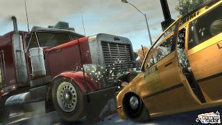 gta4 game jogos diversaoe humor carro batendo em caminhao