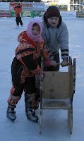 Manuela und Riccardo auf dem Eis