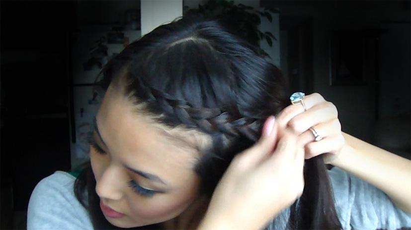 braided bangs tutorial - photo #2