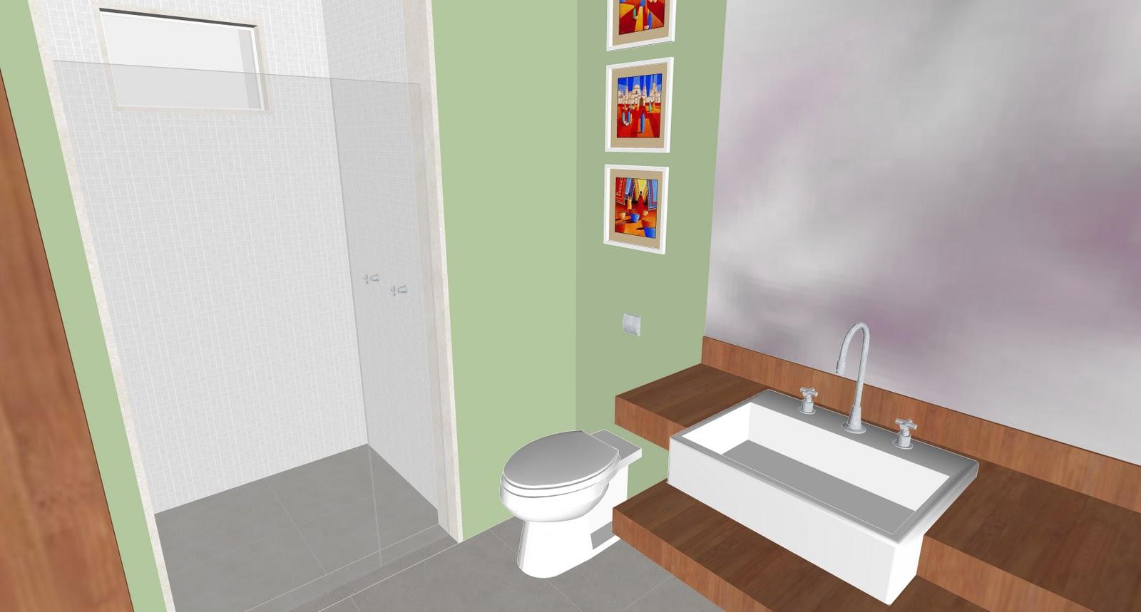 banheiro da suíte já vai ser verde (a Cris do Canto do Feng Shui  #BA220B 1600 859