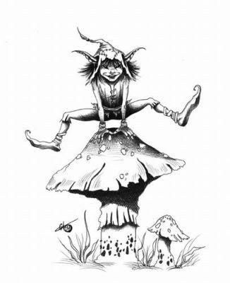 dibujo hada duende: