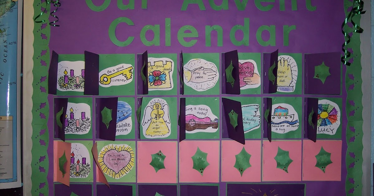Advent Calendar Bulletin Board : Cool boards advent calendar