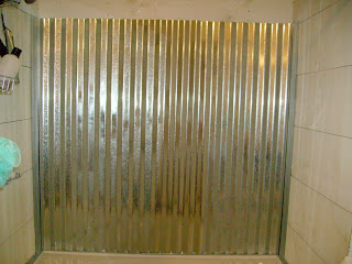 Cottage Dreamers Galvanized Corrugated Metal Shower Surround