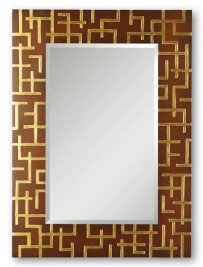 El blog de christopher guy espejos rectangulares para el for Espejo marco dorado