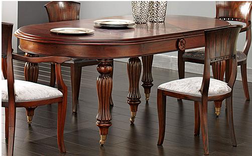 Kr mesas victorianas para las comidas de navidad - Mesas ovaladas extensibles ...