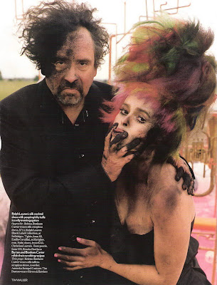 tim burton and helena