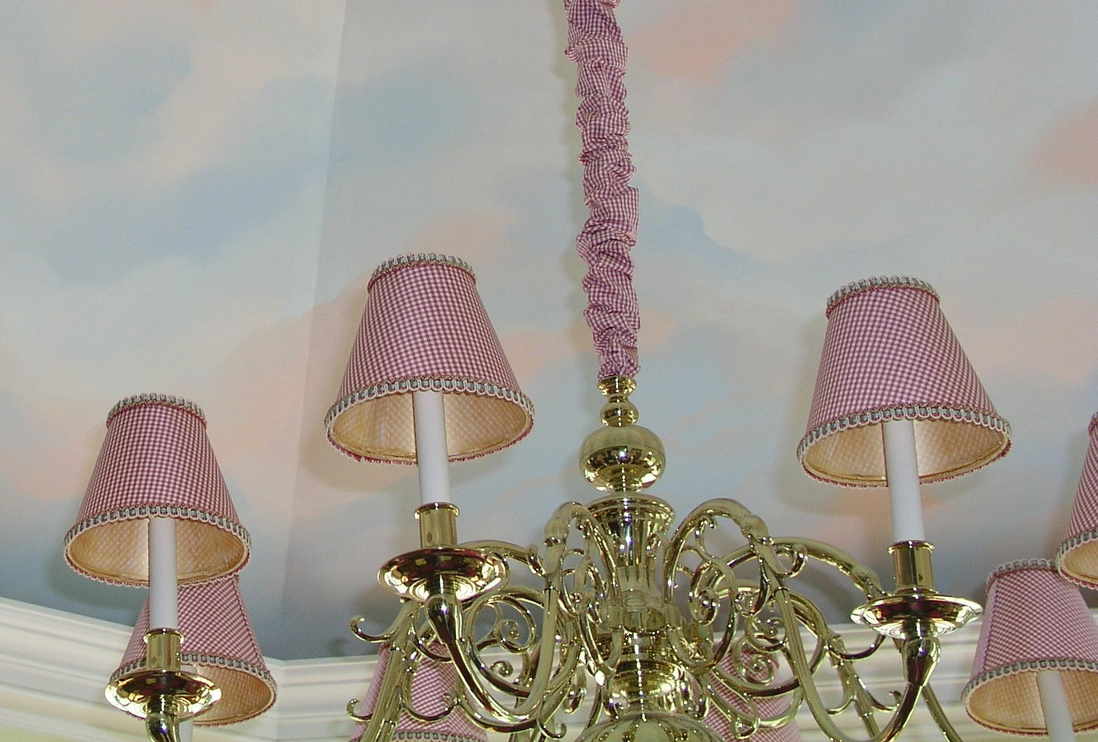 CHANDELIER SHADES BLUE TOILE – Toile Chandelier Shades