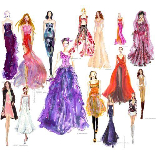 Fashion design  Haute couture sketch