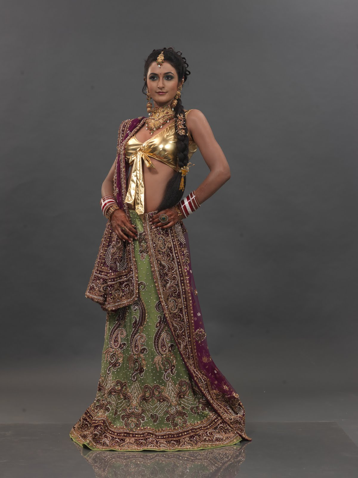Designer Indian Wear: Designer sarees by Anshu\'s Designer Studio