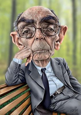 Caricatura de José Saramago, a càrrec de Carlin
