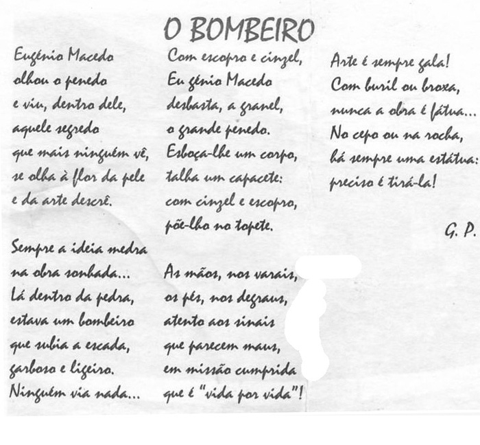 Poema para Eugénio Macedo
