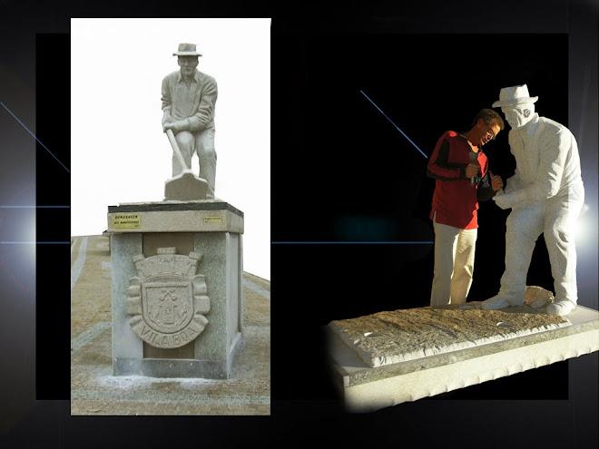 «Suor» Tempero do pão,escultura em granito de tamanho natural