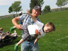 Uncle Casey helping Tyson with his flying skills