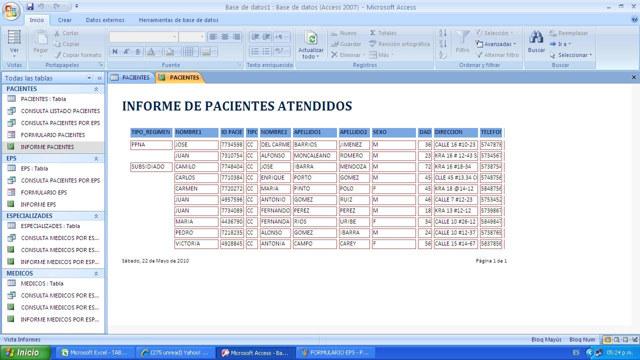 Auditoria Informatica: mayo 2010