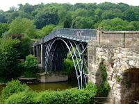 The iron bridge at Ironbridge