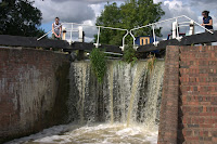 Overflowing lock (B)