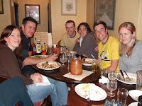 Pub meals every night - yum