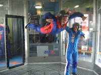 Sarah flying