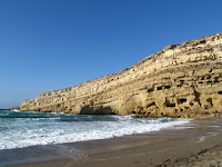 Sea cliffs at Matala