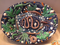 Dish about 1565, made from life-casts of real creatures