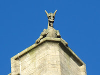 Grotesque on Woburn church
