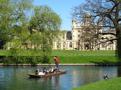 Punters passing St John's College