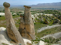 Fairy Chimneys; note the door and steps