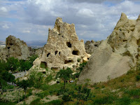 Homes for theology students at Goreme