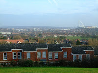 View from Sudbury Hill past home to the Wembley Stadium