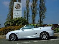 Our MG outside the factory gate