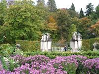 View across the Rose Garden