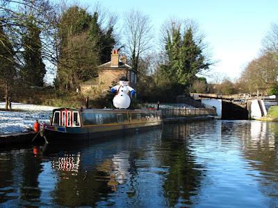 Winter canal scene