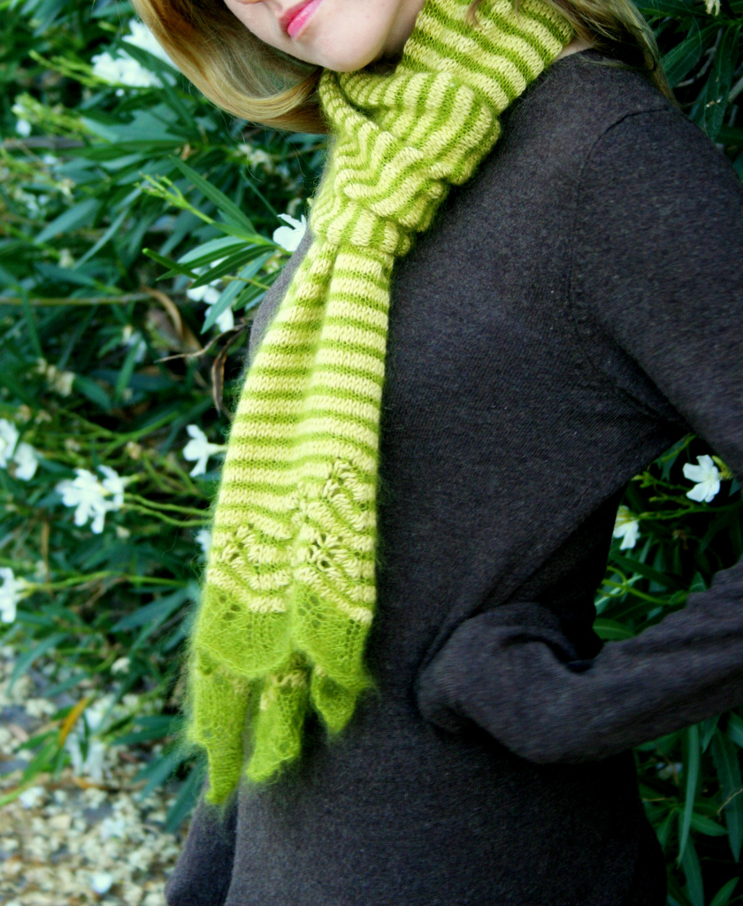 Knitting Patterns Free: Striped Scarf Pattern