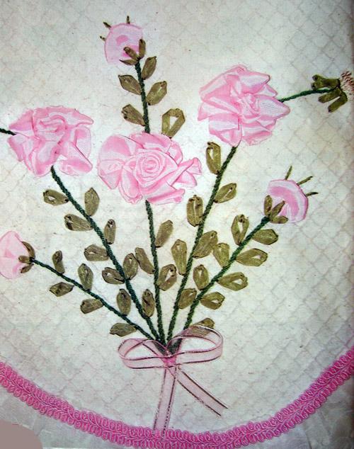 Knitting Ribbon Stitch : Ribbon Embroidery-1-Knitting Gallery