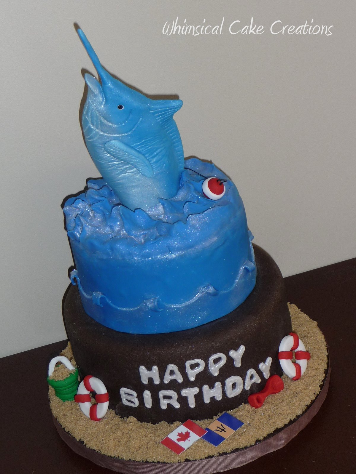 WhimsicalCreationsca Blue Marlin Cake