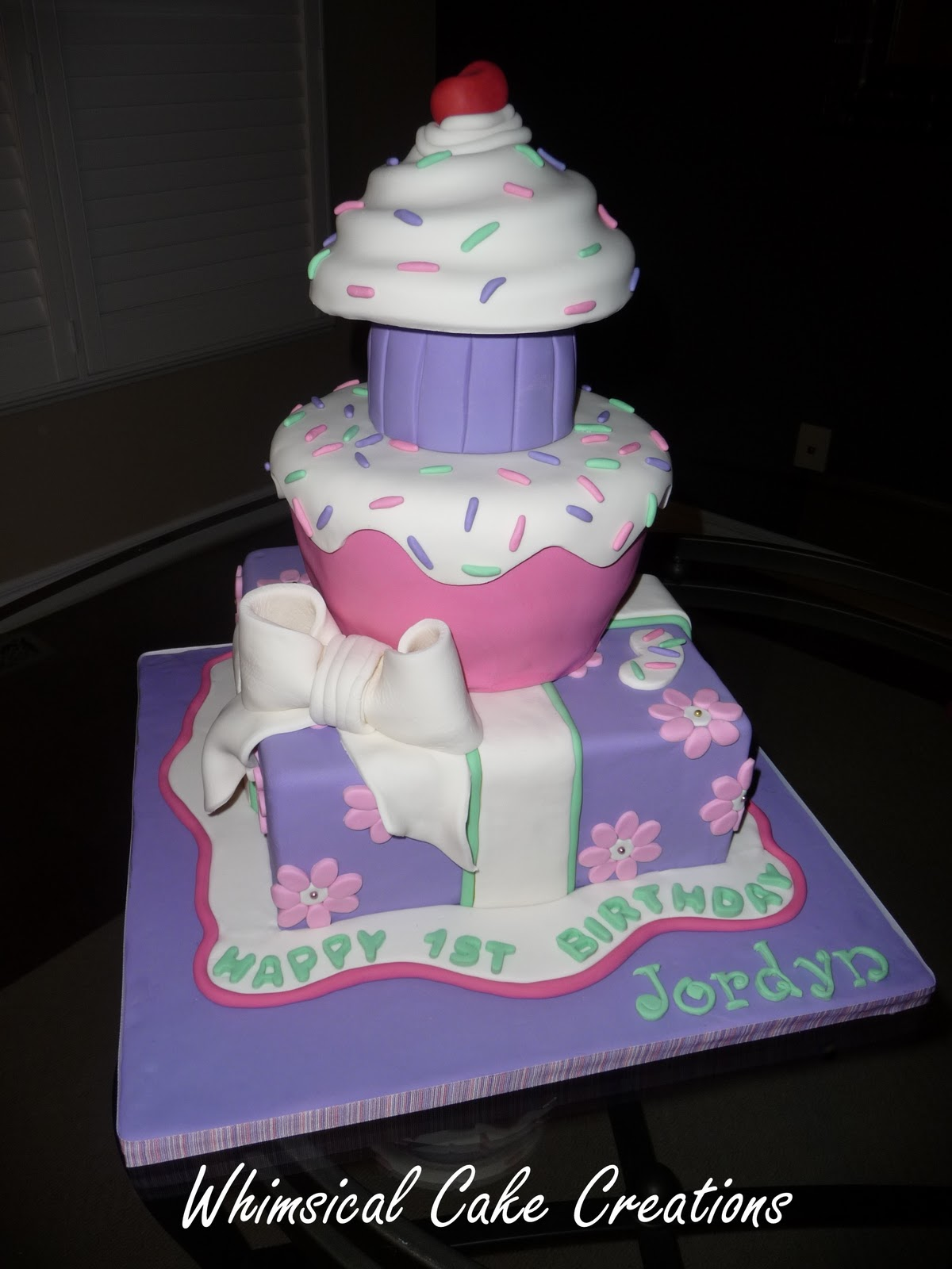 WhimsicalCreationsca 1st Birthday Cake for my Princess