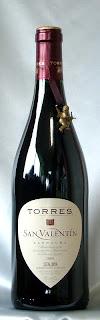 トーレス サン ヴァレンティン 赤 2005 ボトル ラベル