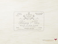 ワインのラベル壁紙(白木)